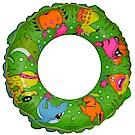 速霸 泳圈 可愛動物卡通圖案兒童泳圈(綠色2入)