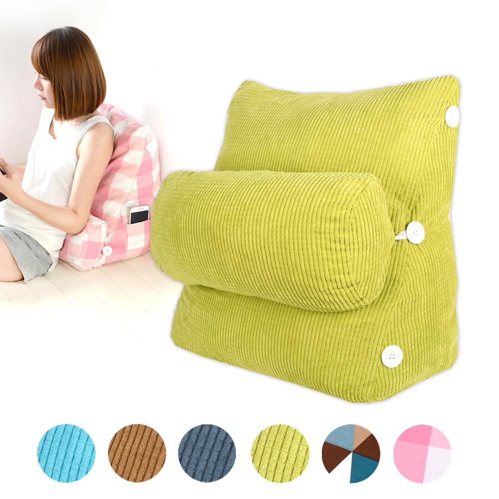 典雅風尚舒壓萬用靠枕/抱枕/腰靠枕 (黃綠素面)