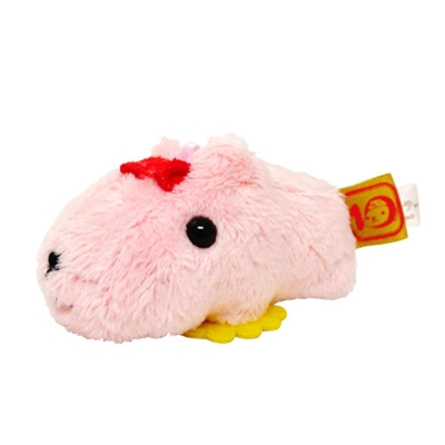 Kapibarasan 水豚君10周年毛絨迷你公仔水豚君。7cm