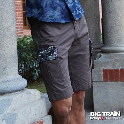 BIG TRAIN 貼袋五分褲-男-深灰