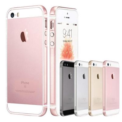 透明殼專家 iPhoneSE/5一體成型 金屬矽膠雙材質邊框+保貼組
