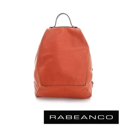 RABEANCO 時尚系列牛皮菱形後背包 橘