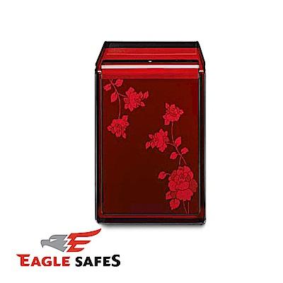 凱騰 Eagle Safes 韓國防火金庫 保險箱 (LU-2000RW)(酒紅玫瑰)