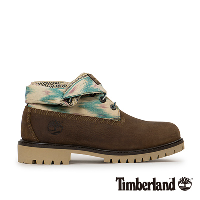 Timberland-男款棕色編織翻領中筒靴