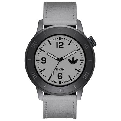 adidas 酷勁進擊時尚腕錶-金蔥銀(ADH3081)/45mm