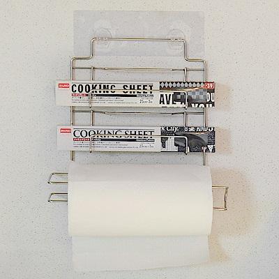 樂貼工坊 保鮮膜架/捲筒紙巾架/微透貼面-29x8x29.5cm