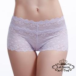 內褲  性感蕾絲親膚蠶絲內褲-淺紫 La Queen