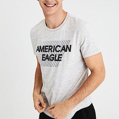 AEO 美國老鷹 文字印刷設計短袖T恤-麻花灰色 Amercan Eagle