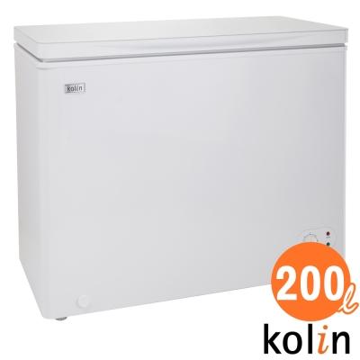 KOLIN 歌林 200L臥式 冷藏/冷凍 二用冰櫃-瑭瓷白 KR-120F02