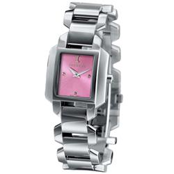 ICEBERG 愛自我光芒魅力時尚設計時尚腕錶-粉紅/24x28mm