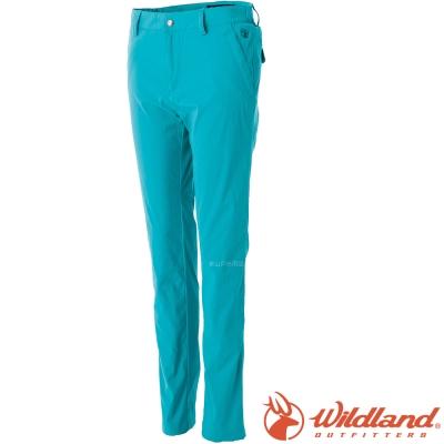 Wildland 荒野 0A51319-67湖水綠 女 彈性透氣抗UV合身褲