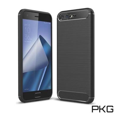 PKG  ASUS Zenfone4 PRO ZS551KL 抗震防摔手機殼-碳纖維紋-黑