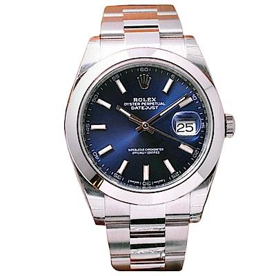 ROLEX 勞力士126300 Datejust 2018最新款蠔式恆動腕錶藍面-41mm