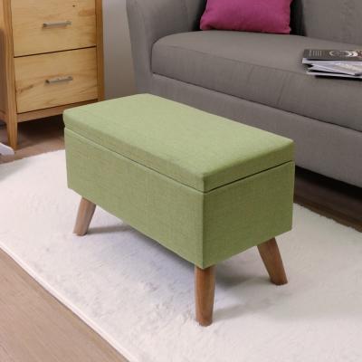 漢妮Hampton亞緹掀蓋儲物凳-長-草綠