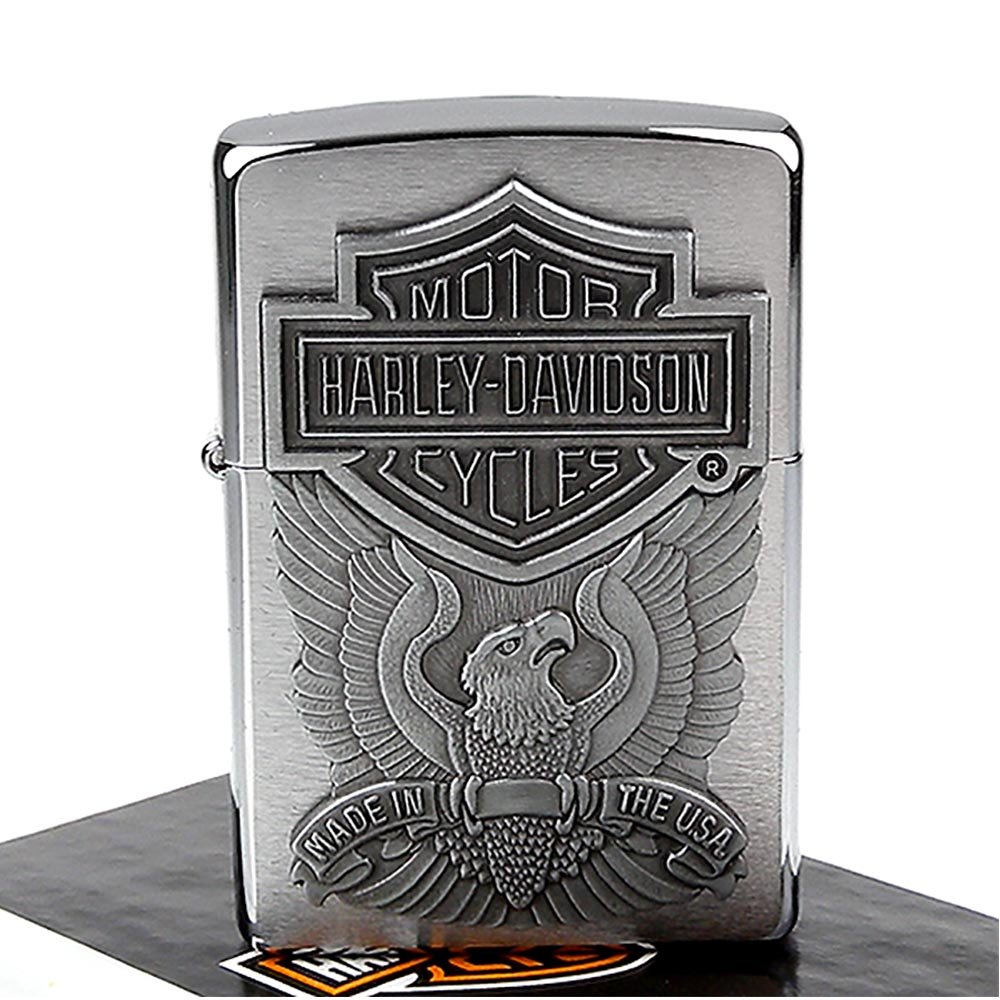 ZIPPO美系-哈雷~Harley-Davidson-老鷹圖案貼飾設計