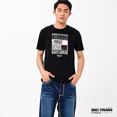 BIG TRAIN 松永久秀圓領短袖-男-黑色