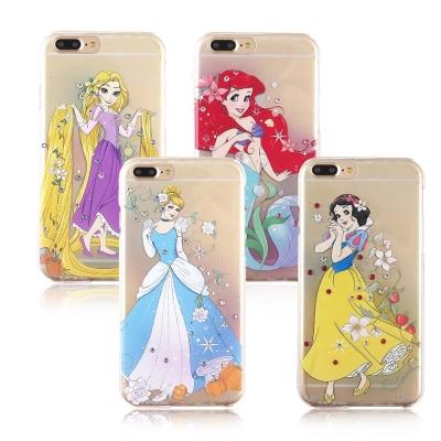 Disney迪士尼iPhone 7唯美漫畫公主施華洛世奇水鑽透明保護殼