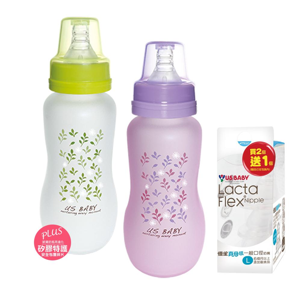 優生真母感特護奶瓶2入(一般口徑240ML)+真母感奶嘴L號一般口徑(2+1)組