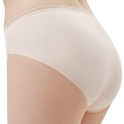 思薇爾 Tour-Dry系列M-XXL素面中腰三角內褲(粉柑色)