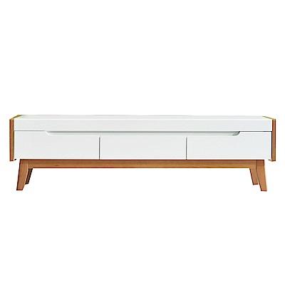 品家居 葛妮5.3尺雙色三抽長櫃/電視櫃-160x35x45cm免組