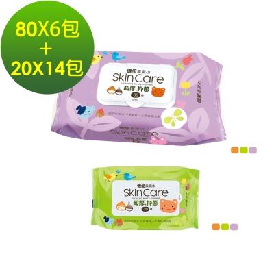 優生 超厚型柔濕巾80抽6包 + 超厚型柔濕巾20抽14包