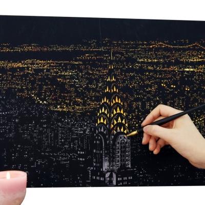 FUNZAKKA 手刮城市金色夜景(附刮棒)-紐約
