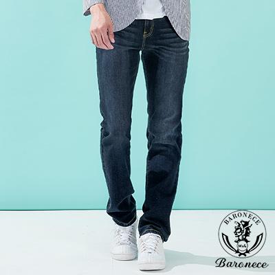 BARONECE 簡約舒適修身款休閒牛仔褲_深藍(517132-10)