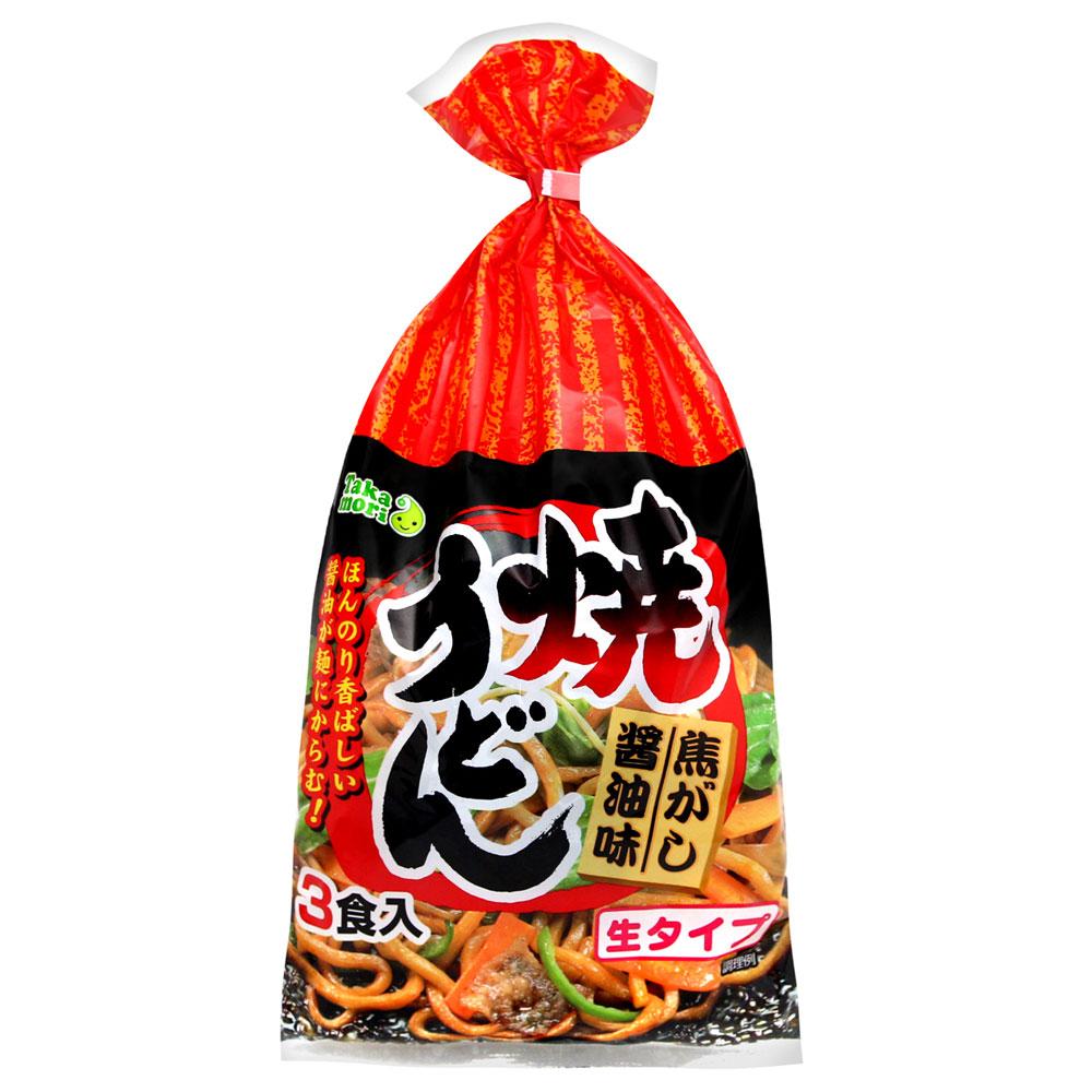高森興產 炒烏龍麵3份入-焦香醬油味(603g)
