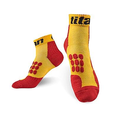 【Titan】太肯全方位球類運動襪 _3雙 黃/紅(適合羽球、網球、桌球、排球)