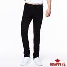 BRAPPERS 男款 HM中腰系列-男用中腰彈性直統褲-黑