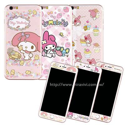 Sanrio iphone6 plus/6s plus雙面強化玻璃保貼-美樂蒂
