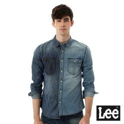 Lee 牛仔不同色塊拼接長袖襯衫101+男款