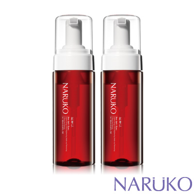 NARUKO牛爾 紅薏仁超臨界毛孔美白洗卸兩用慕絲2入組