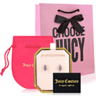 JUICY COUTURE 銀色葉片造型耳環