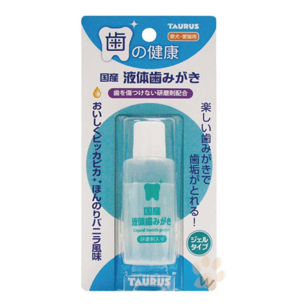 日本金牛座 犬貓用輕鬆除齒垢潔牙液25ml 1入