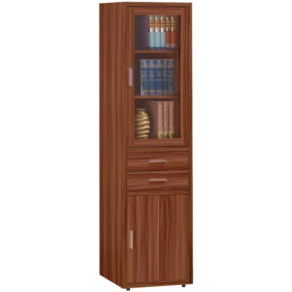 時尚屋 潘迪蘋果木色2尺右書櫃