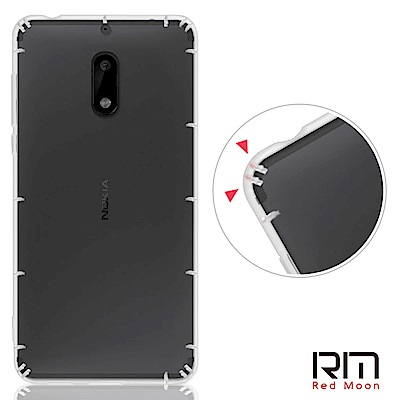 RedMoon Nokia 6 防摔透明TPU手機軟殼