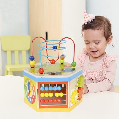 木製多功能串珠百寶箱益智玩具(12m+)