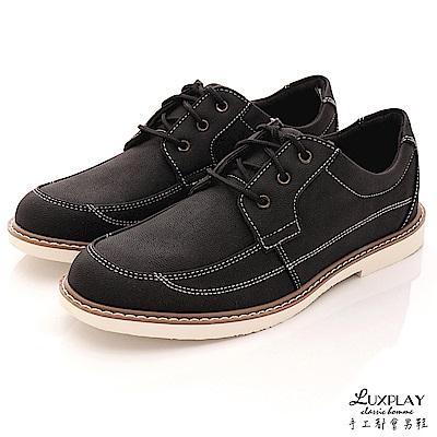 LUXPLAY男款   英倫時尚 休閒鞋~R7705黑