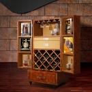 MUSE Bacchus巴克科斯復古牛皮酒櫃 W71*D54*H137.5 CM