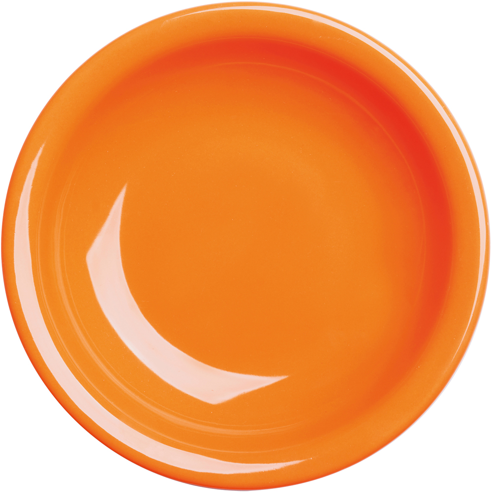 EXCELSA Fashion陶製深餐盤(橘22cm)