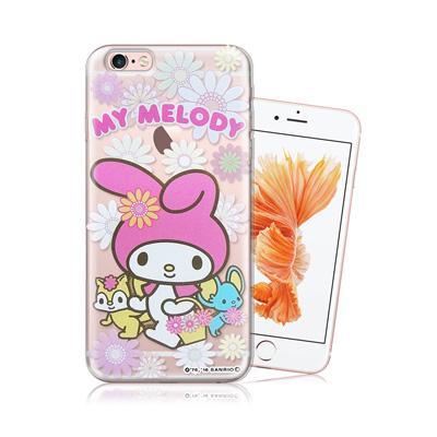 三麗鷗正版-美樂蒂-iPhone-6-6s-4-7吋透明軟式保護殼-郊遊
