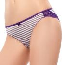 推EASY SHOP-就是要善變 低腰三角褲(條紋紫)