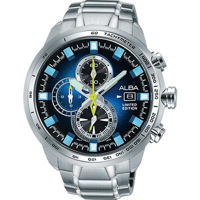 ALBA ACTIVE 活力運動限量款計時腕錶(AV6063X1)-藍/48mm