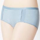思薇爾 K.K.Fit系列M-XL素面中低腰平口內褲(灰藍色)