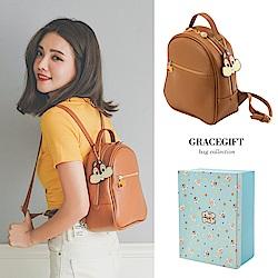Disney collection by grace gift奇奇蒂蒂壓克力吊飾拉鍊後背包