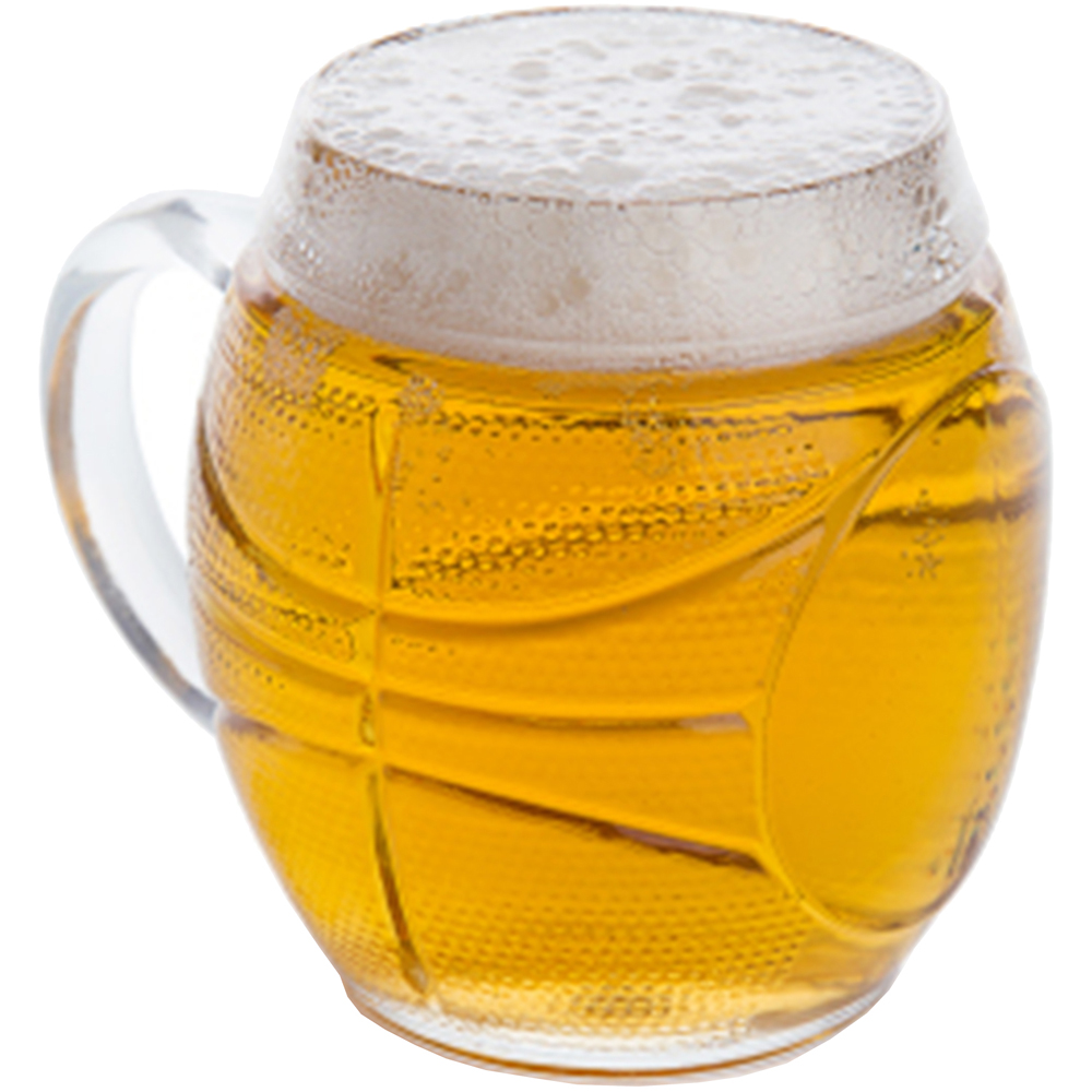 EXCELSA Sport造型啤酒杯(籃球650ml)