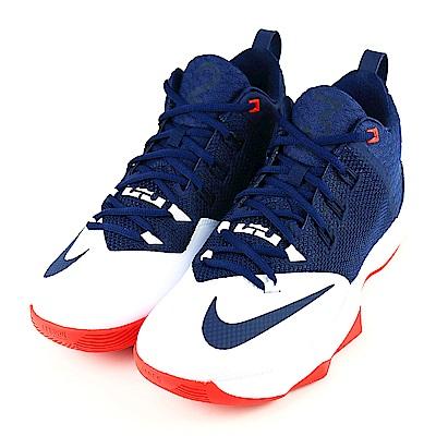 NIKE-AMBASSADOR IX男籃球鞋-藍白紅