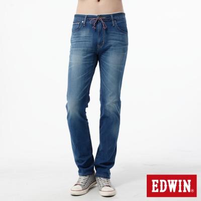 EDWIN 窄直筒 迦績褲JERSEYS新紅布邊牛仔褲-男-石洗藍