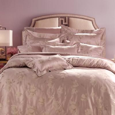 HOYACASA 維也納風情-迷戀粉 雙人六件式色織緹花長絨天絲被套床包組